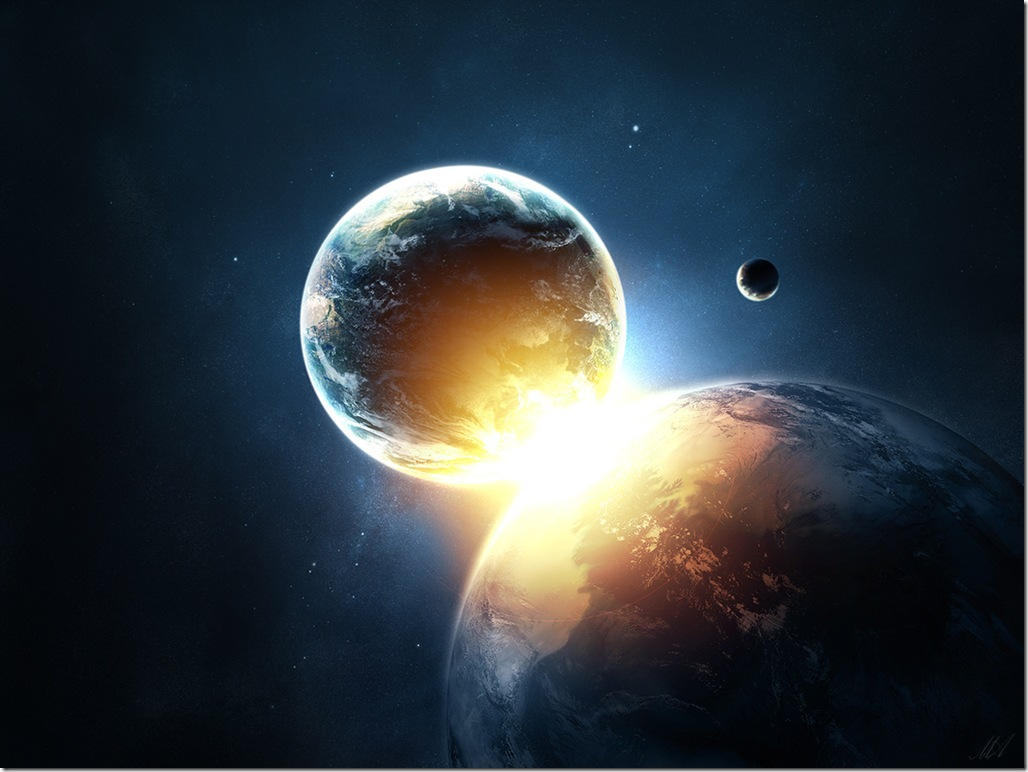 Collision of Earth