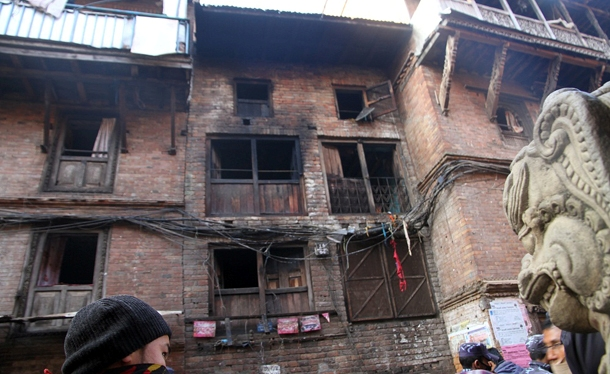 The condition of their house after the accident