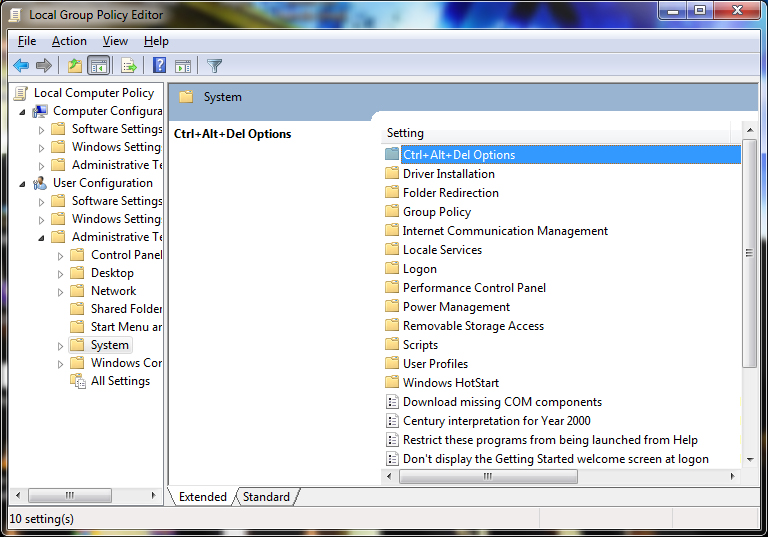 Enabling or Disabling Task Manager_7